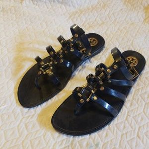 tory burch ankle strap sandles size 8